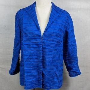 Lafayette 148 Womens Blazer 100% Linen Blue Size 6